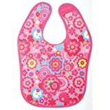 Tuc Tuc Trendy Pink Print Waterproof Baby Girl Bib. Chip Chip Collection.