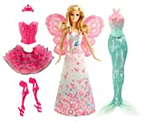Toy - Mattel BCP36 - Barbie Puppe, Modern Fairytale 3-in-1 Fantasie