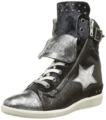 IKKS  Wendy,  Sneaker ragazza Nero Noir (Crs Noir/Argt Dpf/Emily) 32