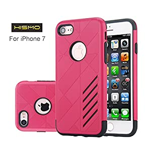 iPhone 7 Case,Hismo(TM) [Anti-Shock] and [TPU Gel+PC Material 2 in 1] Case Cover for iPhone 7,4.7 Inch(Red)