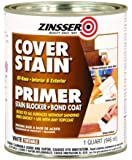Rust-Oleum 03504 Interior/Exterior Oil Primer Sealer Cover Stain, 1-Quart, White