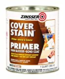 Rust-Oleum 3504 Zinsser Oil Primer Sealer Cover Stain White Interior/Exterior, 1-Quart