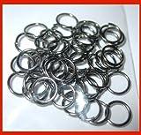 Lyndies Craft 5mm jump rings x 70 Pick a colour Jewellery Findings black