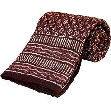 Little India tradicional manta de cama dorado estampado para cama individual rojo