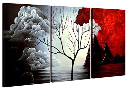 Home Art Contemporary Art Abstract Paintings Reproduction Giclee Canvas Prints Framed Canvas Wall Art for Home Decor 3 panels Wall Decorations For Living Room Bedroom Office Each Panel Size 12x16inch