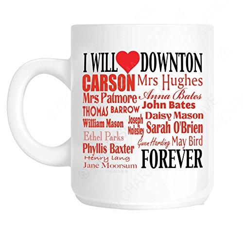 Downtown I Will Love Forever a forma di tazza con un elenco dei membri del Staff. ideale come regalo per la festa della mamma, idea regalo per la festa del papà, nel luogo di lavoro, un compleanno o Natale perfetto per tutti coloro che hanno adored