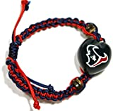 NFL Houston Texans Go Nuts Kukui Nut Macrame Bracelet