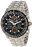 (シチズン) CITIZEN Skyhawk A-T Stainless Steel Chronograph Atomic Men Watch 男性腕時計 JY0000-53E [並行輸入品] LUXTRIT