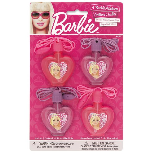 Heart-Shaped Barbie Bubble Party Favors, 4ct - 1
