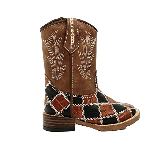 Double Barrel Toddler-Boys' 'S Andy Cowboy Boot Square Toe double barrel toddler boys s andy cowboy boot square toe