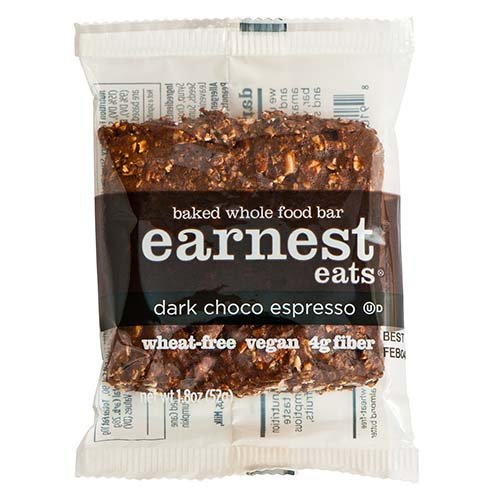 Earnest Eats 100% All-Natural Wheat-Free & Vegan Chewy Baked Energy Bars With Whole Nuts, Fruits, Seeds And Grains - Double Choco Espresso - (Case Of 12)