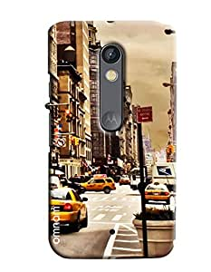 Omnam City Road Printed With Taxi Printed Designer Back Cover Case For Motorola Moto X Play