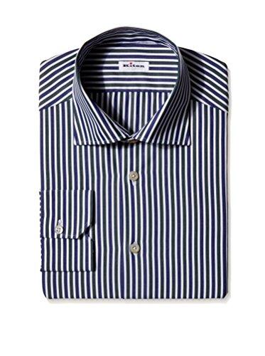 Kiton Men's Stripe Dress Shirt