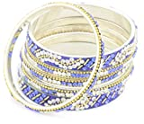 Chamak by priya kakkar Crystal Swirl Bangle Set