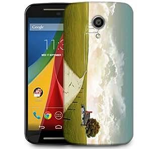 Snoogg Pathway Road Designer Protective Phone Back Case Cover For Motorola G 2nd Genration / Moto G 2nd Gen