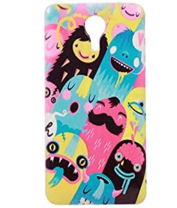 Jkobi(TM) Exclusive Rubberised Back Case Cover For MICROMAX CANVAS XPRESS 2 / XPRESS2- Cute Monster World