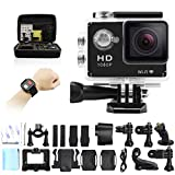 GeekPro 4.0 Sport Action Camera 2inch Sports Video WIFI Cam 12MP Underwater Camcorder 1080P Wrist 2.4G Wireless RF Remote Control Portable Carrying Bag