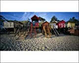 Photographic Print of Beach Huts, Wells-Next-The Sea, Norfolk, England from Arcaid Images
