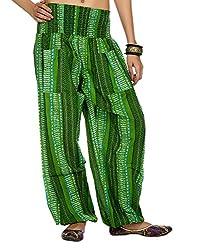 Rajrang Womens Cotton Green Large Harem Pants