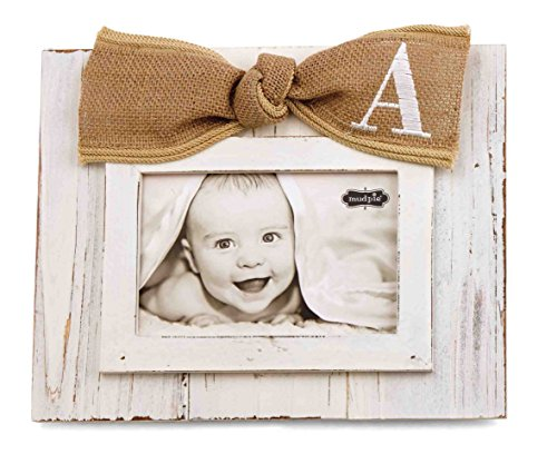 Mud Pie Planked Monogram Bow Frame, A