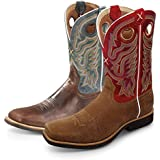 """Twisted X Boots Men's Top Hand Red Buckle 11"""" NWS Toe Boot"""