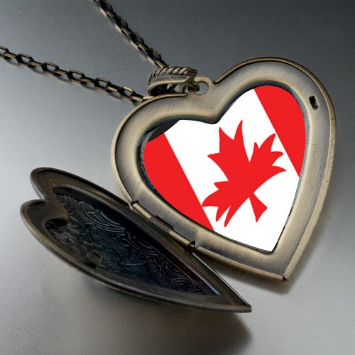 Canada Flag Large Pendant Necklace