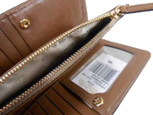 MICHAEL Michael KorsMichael Kors Astor Top Zip Continental Dark Dune Leather Wallet