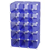 Storage Solutions 0743B4 15 Pair Customizable Shoe Cubby, Blue ~ Storage Solutions