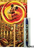 Disney Parks Mickey Mouse Red & Yellow Swirl Lollipop (4oz) - Disney Parks Exclusive & Limited Availability + BONUS Mickey Surf Pen