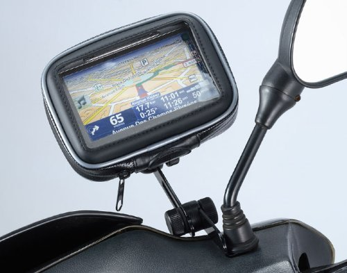 ME-MM+WPCS: Universal Motorcycle Mirror Mount with water resistant Case for 3.5