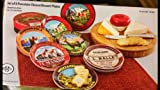 BIA Cordon Bleu Assorted Cheese/Dessert Plates, Set of 8, Gift Boxed