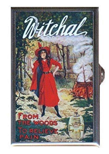 Witch Retro Vintage Ad Patent Medicine Goth Decorative Pill Box by Coastal Colors