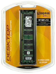 Kingston ValueRAM 512MB 333MHz PC2700 DDR Desktop Memory (KVR333/512R)