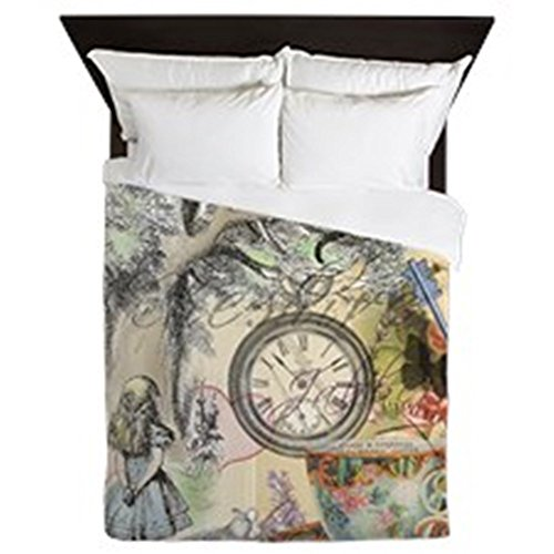 CafePress - Cheshire Cat Alice In Wonderland - Queen Duvet Cover, Printed Comforter Cover, Unique Bedding, Luxe (Alice In Wonderland Quilt compare prices)