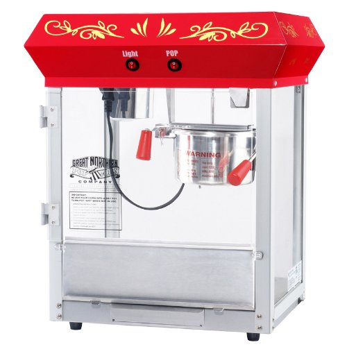 New Business Equipment Counter Top 530W Red 4 Oz Kettle Popcorn Popper Machine