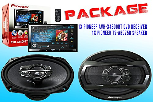 Package ! Pioneer Deh-X4600Bt Cd-Receiver + Pioneer Ts-A6975R Car Speakers