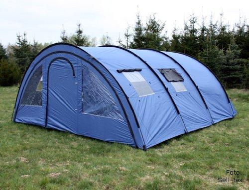 6 personen zelt blau style expedition zelt test. Black Bedroom Furniture Sets. Home Design Ideas