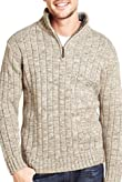Zip Neck Jumper with Wool [T30-4449N-S]