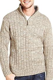 Zip Neck Jumper with Wool [T30-4449N-S]