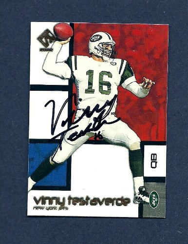 Vinny Testaverde Autographed Signed New York Jets 2002 Private Stock Card #69 NR-MT - COA - Guaranteed Authentic at Amazon.com