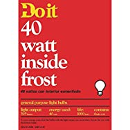 GE Private Label 13063 Do it Inside Frost Light Bulb-40W 4PK IF BULB