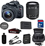 Canon SL1 Digital SLR Camera with EF-S 18-55mm f/3.5-5.6 IS STM Lens + High Speed 16GB Memory Card + High Speed Reader + 5pc Bundle - International Version