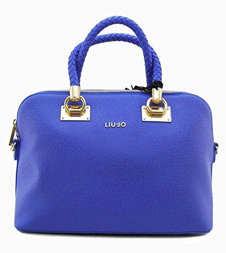 LIU JO ANNA SHOPPING BAG - A16082E0087 84043 BLU PALAZZO