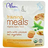 Plum Organics Baby Training Meals, Pasta with Chicken and Vegetables, 4-Ounce Pouches (Pack of 12) ~ Plum Organics