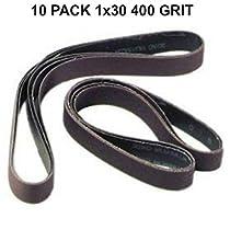 1x30 - 400 Grit 10 Pack - Silicon Carbide Sanding Belts