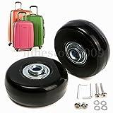 外輪径 50mm 内輪径 6mm 幅 18mm 車軸 35mm / 2輪 スーツケース サービス 用交換ホイール 静音効果とオシャレ度アップ 故障時の修理交換も キャスター車輪部品 パーツ 工具付属 龜旅