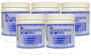 5 Jars of L-Arginine Pro - 5,000 mg of L-Arginine PLUS 1,000 mg of L-Citrulline DISCOUNTED PRICE