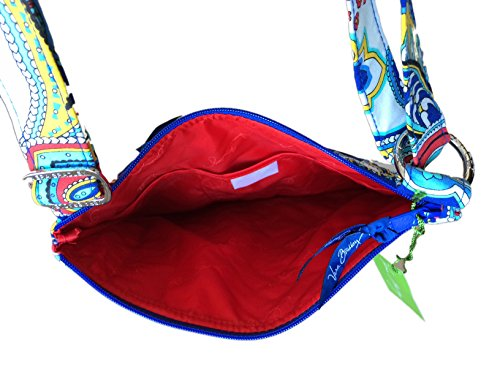 Vera Bradley Hipster in Marina Paisley with Red Interior