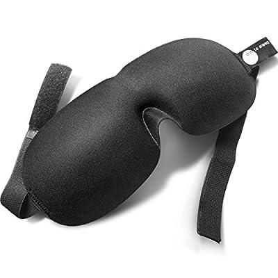 BLACK Eye Mask DRIFT TO SLEEP mask with adjustable straps & contoured shape Ideal for Travel Meditation Yoga Shift Work Natural Sleep solution Blindfold lets you enjoy restful sleep wherever you are!