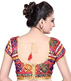 MSM Womens Cotton Regular Fit Saree Blouse (Red)